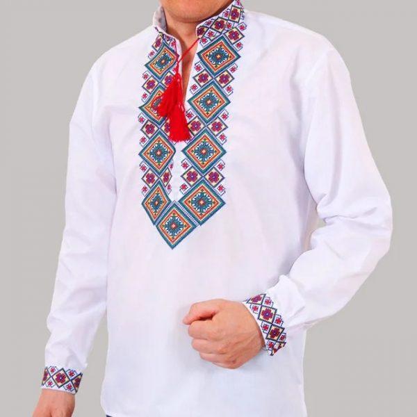 мужская вышиванка большая вышивка