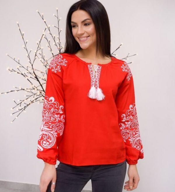 Цветная рубашка вышиванка женская