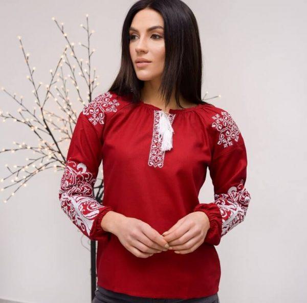 женские вышиванки из льна